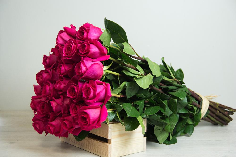 """Букет из роз сорта """"Пинк Флойд"""""""